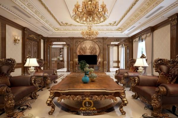 Tinh thần nội thất tân cổ điển được thể hiện qua từng căn phòng ra sao?
